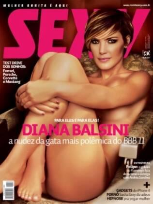 Diana na capa da Sexy de junho