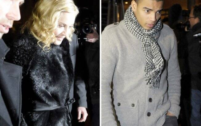 Madonna e Brahim em Berlim: descendo separados do carro