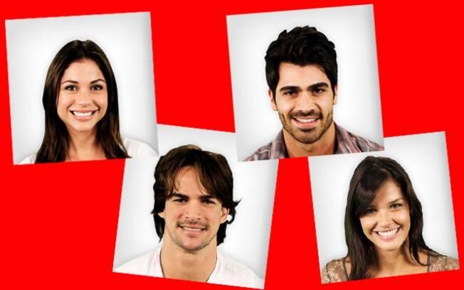 Vermelho: Maria, Rodrigo, Rodrigão e Talula