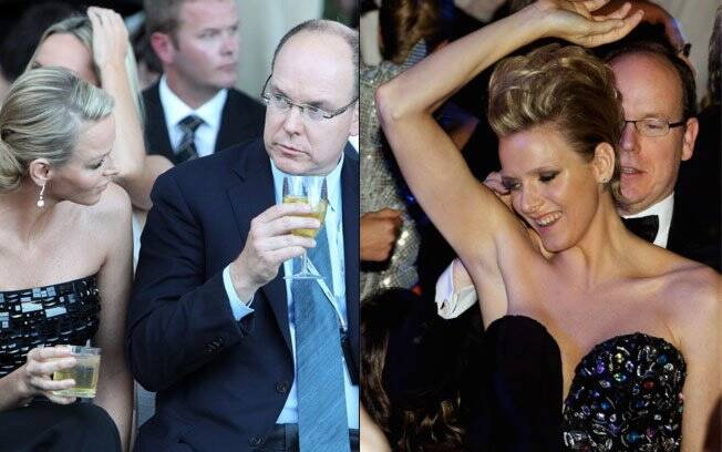 Charlene Wittstock e Príncipe Albert II em momentos de descontração em badalados eventos de Mônaco