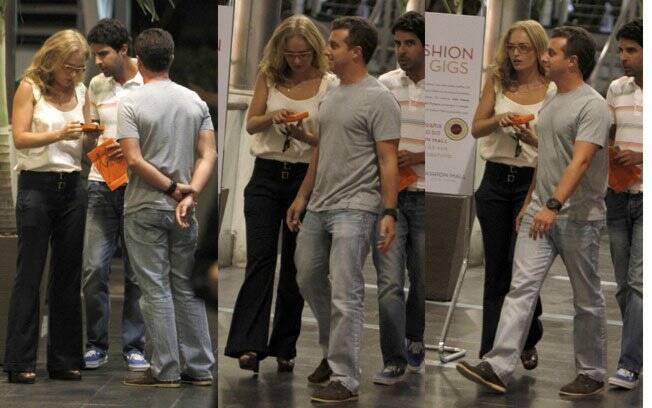 Luciano Huck e Angélica clicados após jantarem em um shopping no Rio