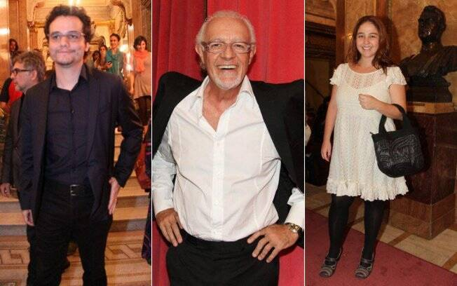 Wagner Moura, Ney Latorraca e Débora Lamm