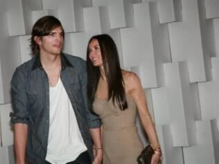 Ashton e Demi no Brasil