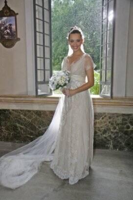 Vestido de noiva corte evase e imperio