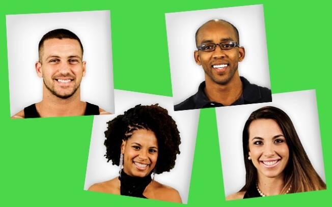 Verde: Diogo, Janaína, Lucival e Michelly.