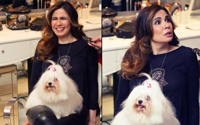 Luciana Gimenez brinca com sua cachorrinha