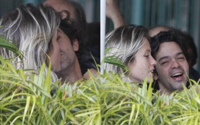 Bruno Mazzeo e Juliana Didone almoçam juntos