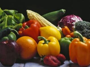 Legumes, verduras e frutas: muitas cores