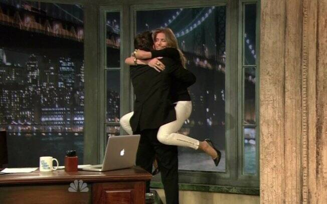 Cameron Diaz com o apresentador Jimmy Fallon