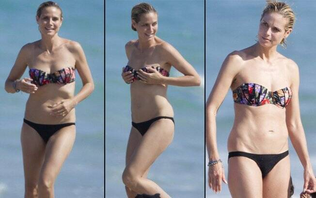 Heidi Klum: em plena forma física