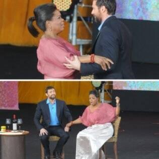 Após o incidente tudo voltou ao normal e Oprah continuou com a entrevista