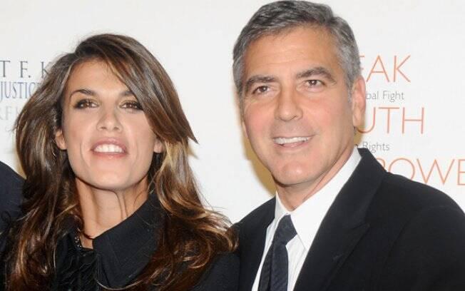 Elisabetta e Clooney: ela quer uma grande festa para os 50 anos dele