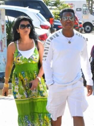 Alejandra e Jermaine Jackson em outubro de 2010