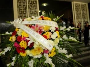 Dilma Rousseff enviou uma coroa de flores