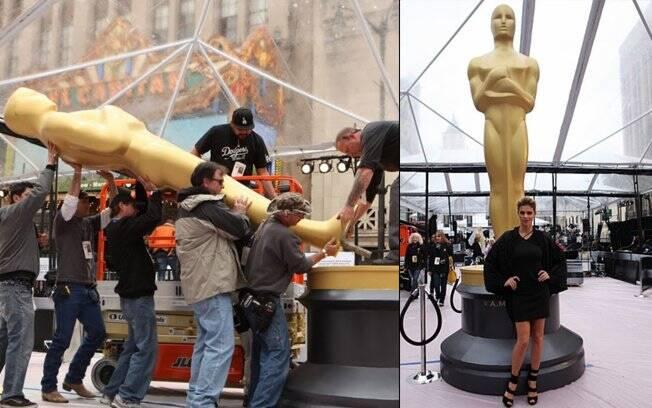 Fernanda Lima visita os bastidores do Oscar
