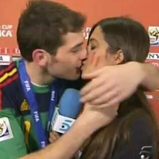 Casillas e a namorada Sara