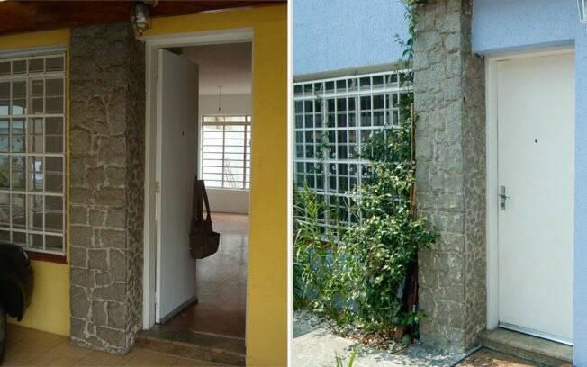 A arquiteta decidiu manter a fachada para respeitar o padrão da vila. Mas o tom hortênsia garantiu o ar de renovação ao imóvel