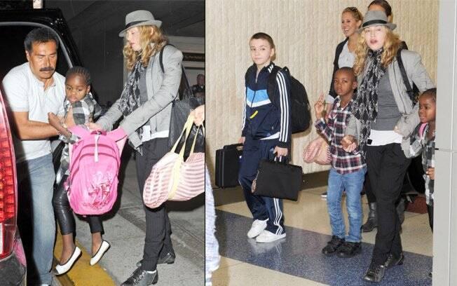 Madonna segue para sua mansão em Nova York