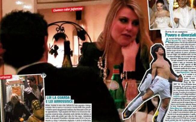 Alexandre Pato e Barbara Berlusconi em clima de romance na Itália