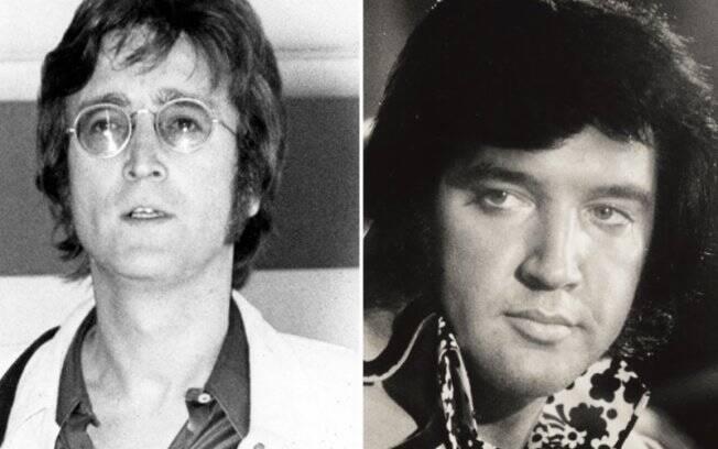 Lennon e Elvis: a antipatia teria sido imediata, com o Rei do Rock querendo expulsar o ex-Beatle dos EUA