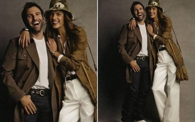 Alessandra Ambrosio com o marido para o especial Valentine's Day