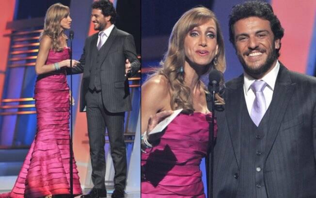 Rodrigo Lombardi e Lili Estefan, em Miami