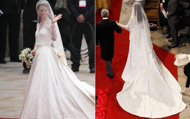 O vestido usado por Catherine durante a cerimônia