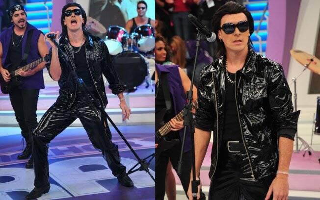 Rodrigo Faro imita o vocalista do U2, Bono Vox