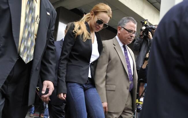 Lindsay Lohan está livre da rehab