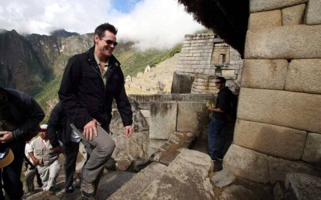 Jim Carrey no Machu Picchu