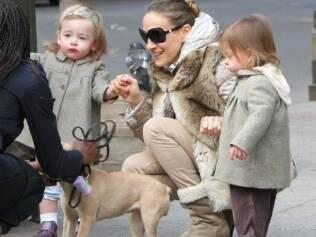 Sarah Jessica Parker e as filhas, Marion e Tabitha