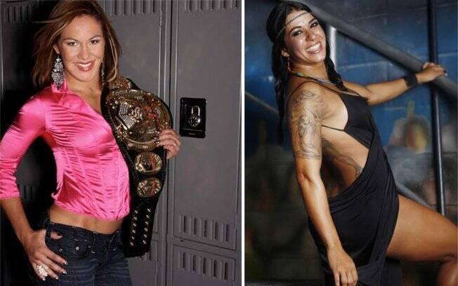 Cris Cyborg (esq) e Ana Maria Índia, as duas estrelas do MMA brasileiro
