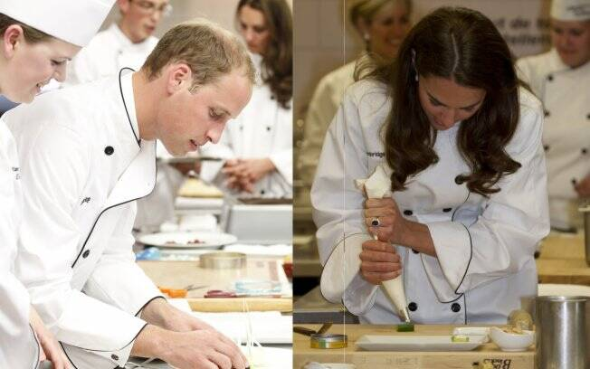 Principe William e Kate Middleton no Institut de Tourisme et d'Hotellerie du Quebec