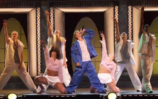 Aaron Carter em um show nos EUA, em 2003