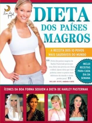 O livro Dieta dos Países Magros, de Harley Pasternak, tem a cantora e atriz Hilary Duff, que testou e aprovou a fórmula