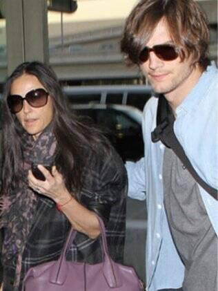 Ashton Kutcher e Demi Moore