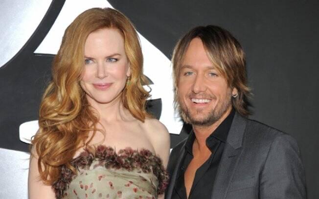 Nicole Kidman e Keith Urban: ele deu à esposa uma cruz de esmeraldas e diamantes