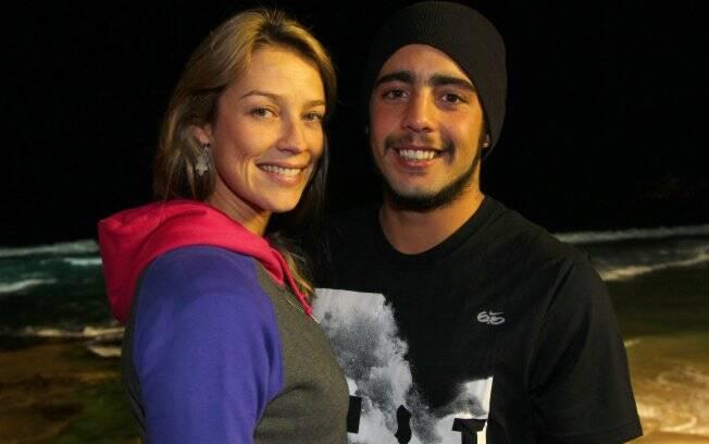 Luana Piovani e Pedro Vianna durante o Nike Jam Sessions