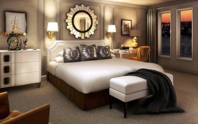 decoracao de interiores de casas de luxo:Haverá também um hotel a bordo, com 206 suítes cinco estrelas. Foto