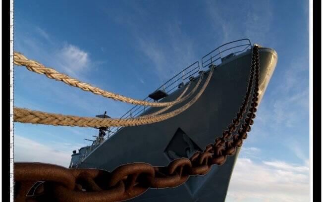 Passo 2: path nas amarras do navio
