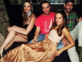 Luciana Gimenez e a top Alessandra Ambrósio: agito em Nova York