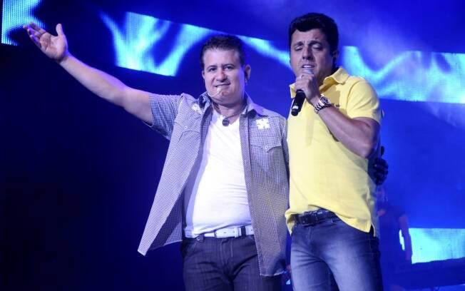Marrone (à esq.) e Bruno durante apresentação no Rio de Janeiro no início do ano