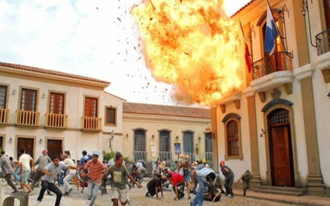 A explosão em 'Ribeirão do Tempo'