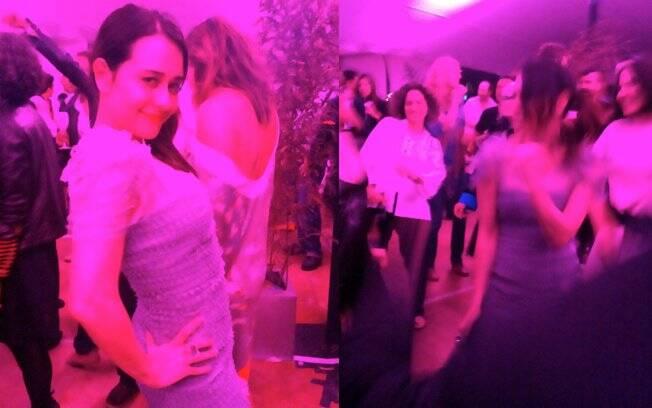Alessandra Negrini festeja a exibição de