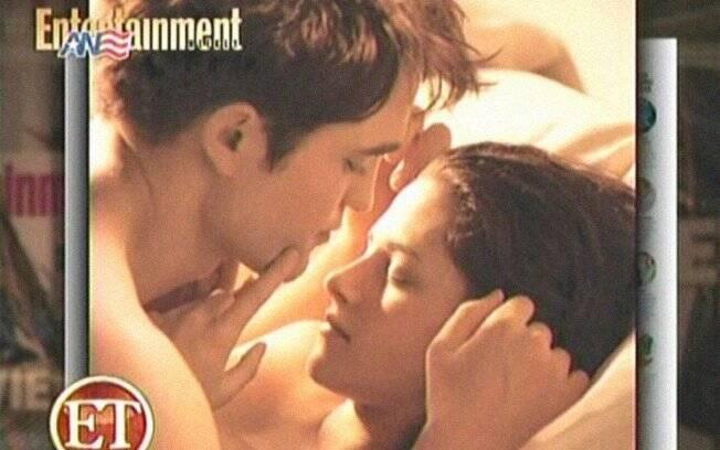 Robert Pattinson e Kristen Stewart: noite de núpcias de Edward e Bella