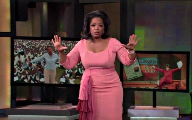 Oprah na gravação do último programa