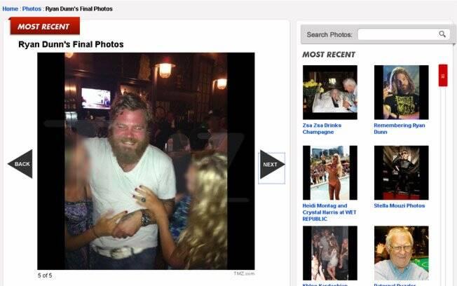 Ryan Dunn tira fotos com fãs horas antes de perder a vida em um acidente de carro