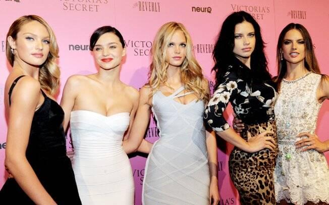 As angels Candice Swanepoel, Miranda Kerr,Erin Heatherton,Adriana Lima e Alessandra Ambrósio