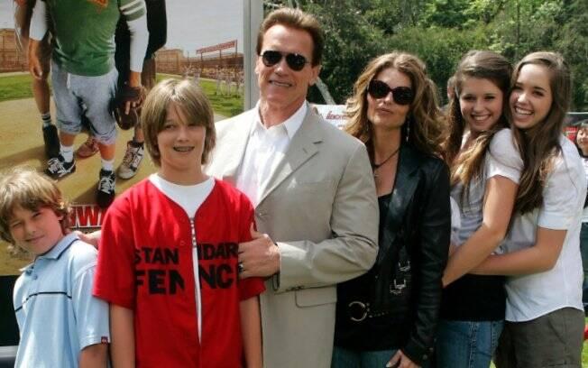 Arnold Schwarzenegger com a família