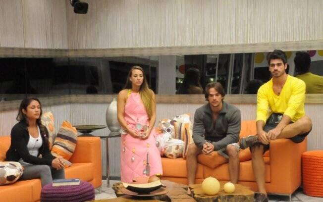 Maria, Michelly, Rodrigo e Rodrigão ficaram apreensivos com a berlinda-surpresa